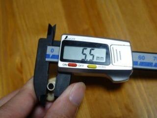 TE-D01gvのノズル径は5.5mm