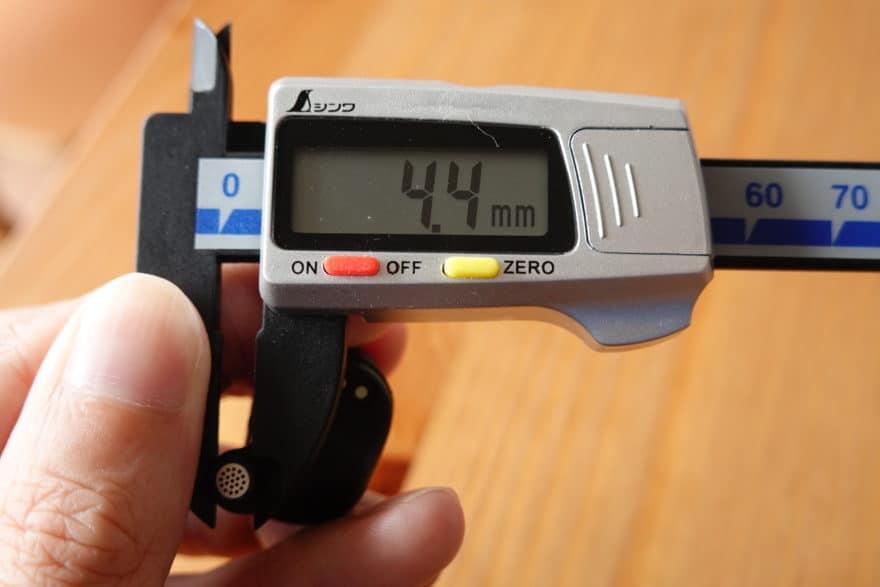くびれ部は4.4mm