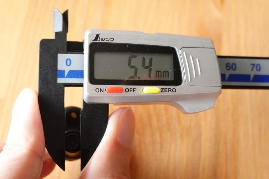 ノズル径は5.4mm