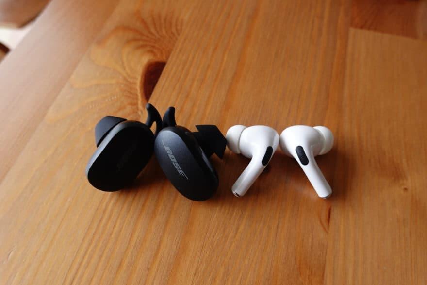 QuietComfort EarbudsとAirPods Proを比較|その違いは?
