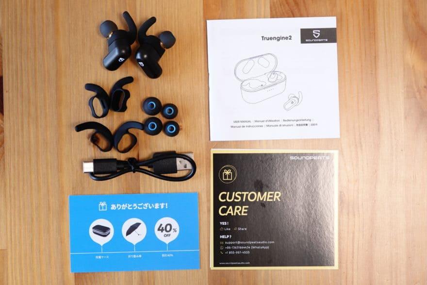 付属品 イヤーピース、イヤーフック、USB Type Cケーブル、マニュアル