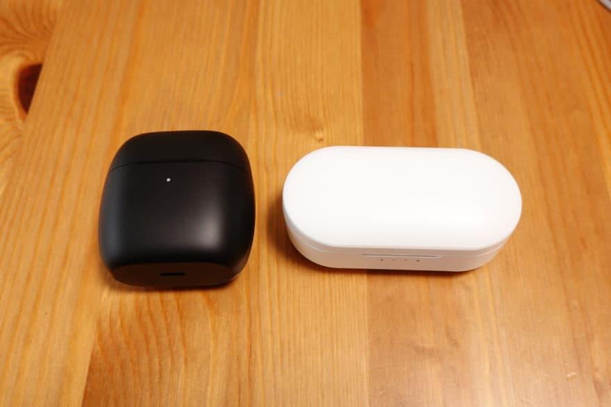 EarFun AirとEarFun Freeの充電ケースを比較