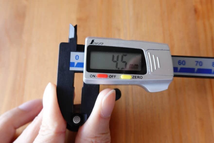 ノズルのくびれ4.5mm
