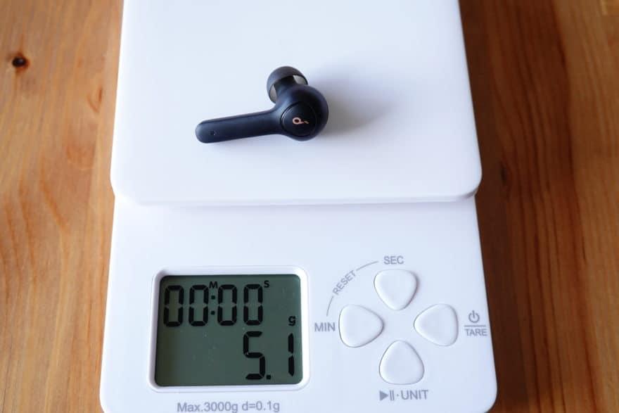 本体の重さ 5.1g