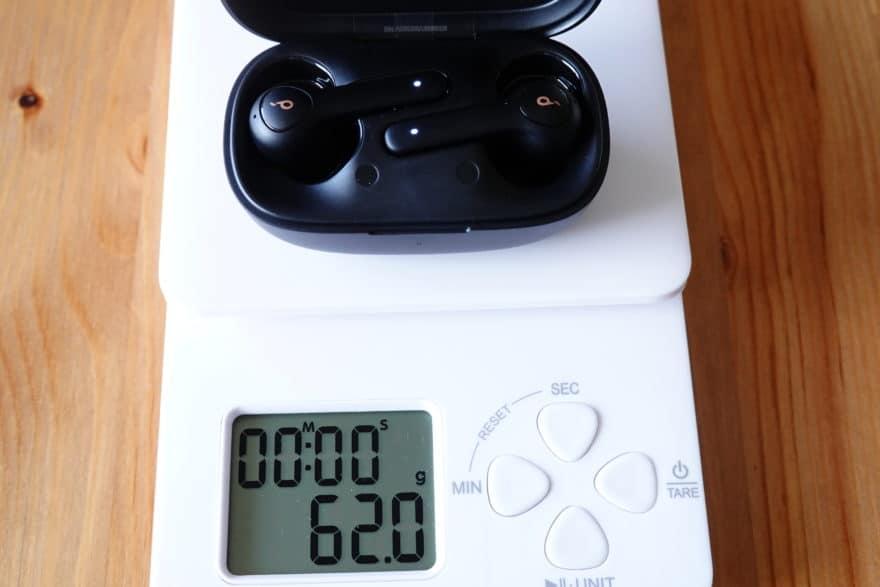 ケースの重さ 62.0g