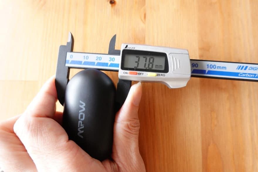 充電ケースの寸法