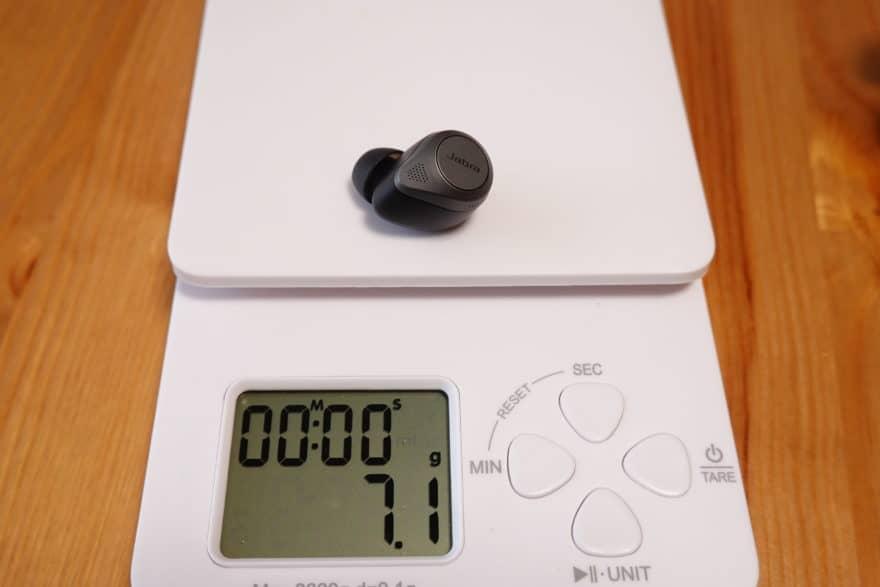 Jabra Elite 85t 本体重量7.1g