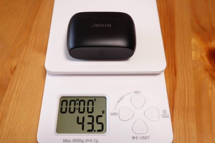 Jabra Elite 85t 充電ケース重量43.5g