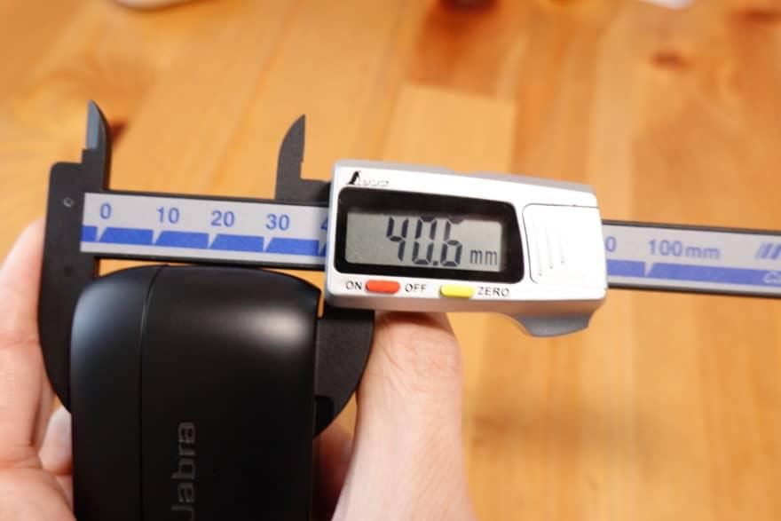 Jabra Elite 85t 縦幅40.6mm
