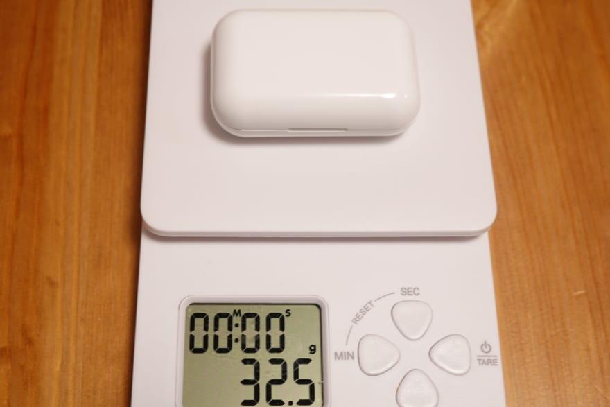 充電ケース重さ32.5g