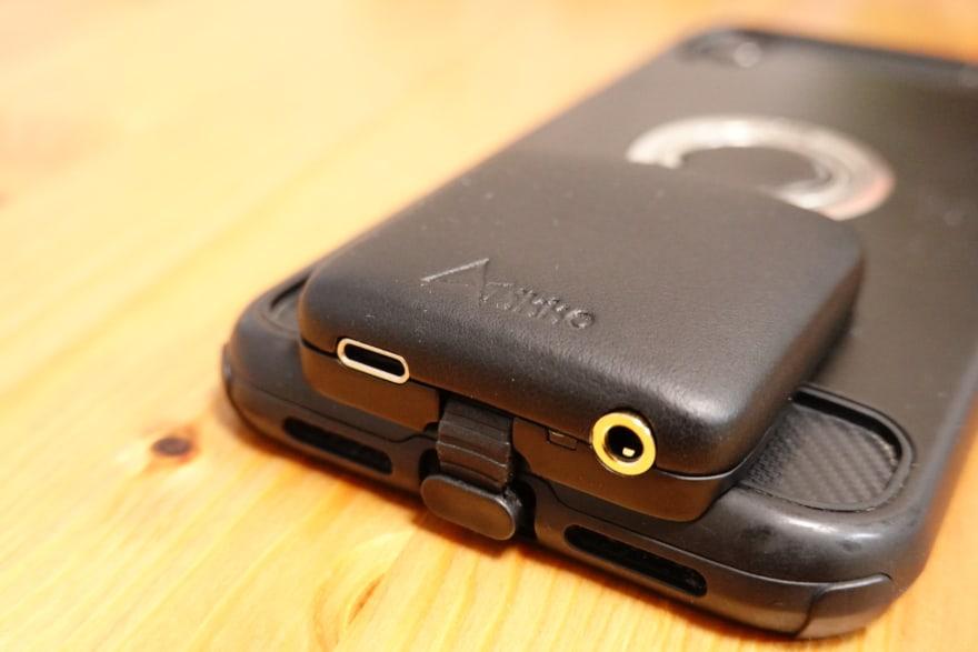 iPhoneとDACを組み合わせることにより、iPhoneでもAmazon Music HDのハイレゾ音源を再生できるよ