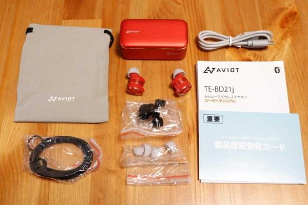AVIOT TE-BD21j 付属品