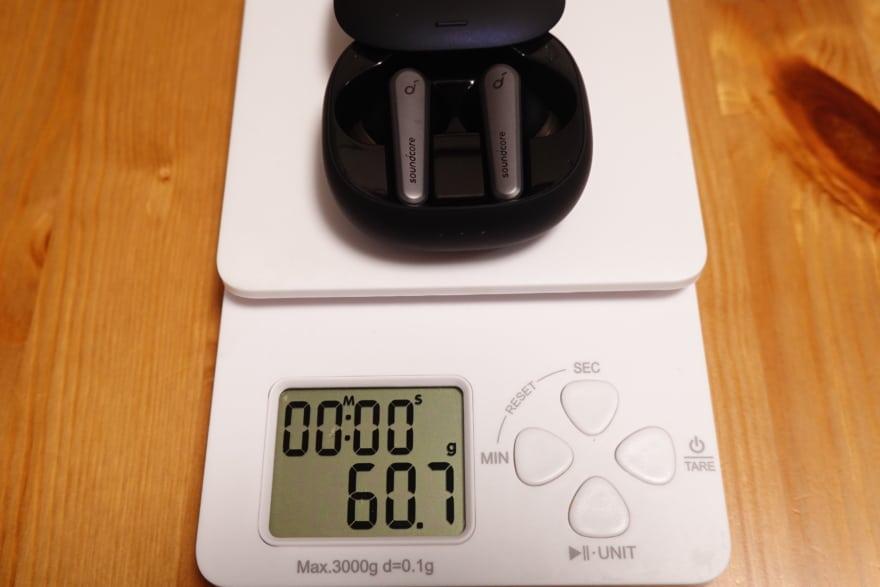 総重量は60.7g