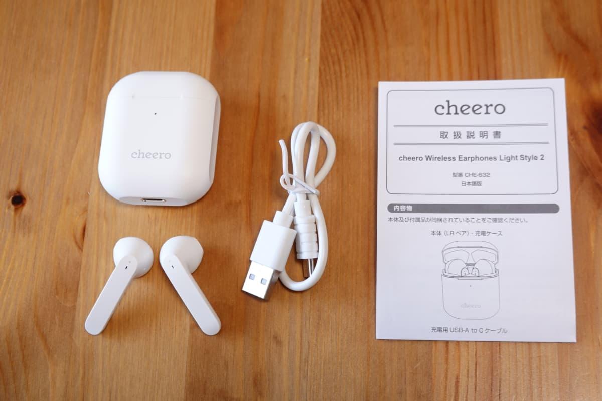 Wireless Earphones Light Style 2 (CHE-632)の付属品