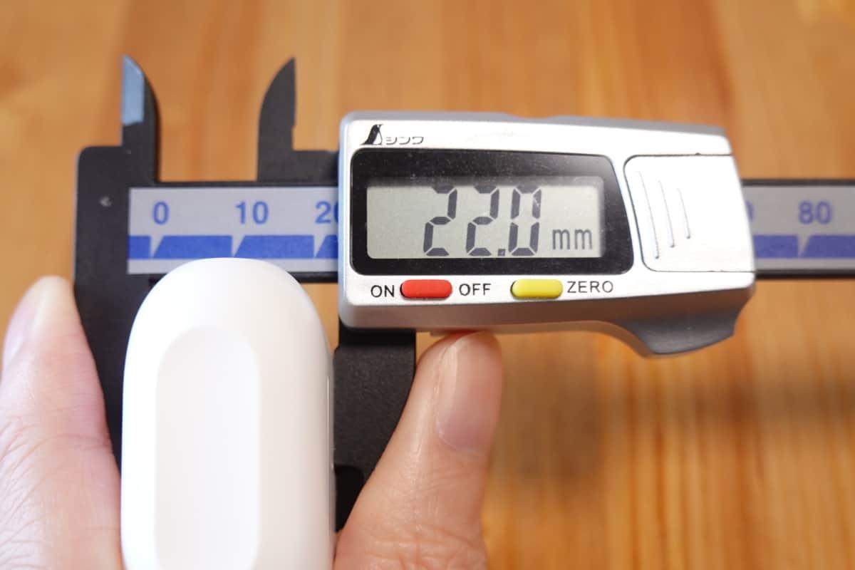 Wireless Earphones Light Style 2 (CHE-632)の奥行き22.0mm