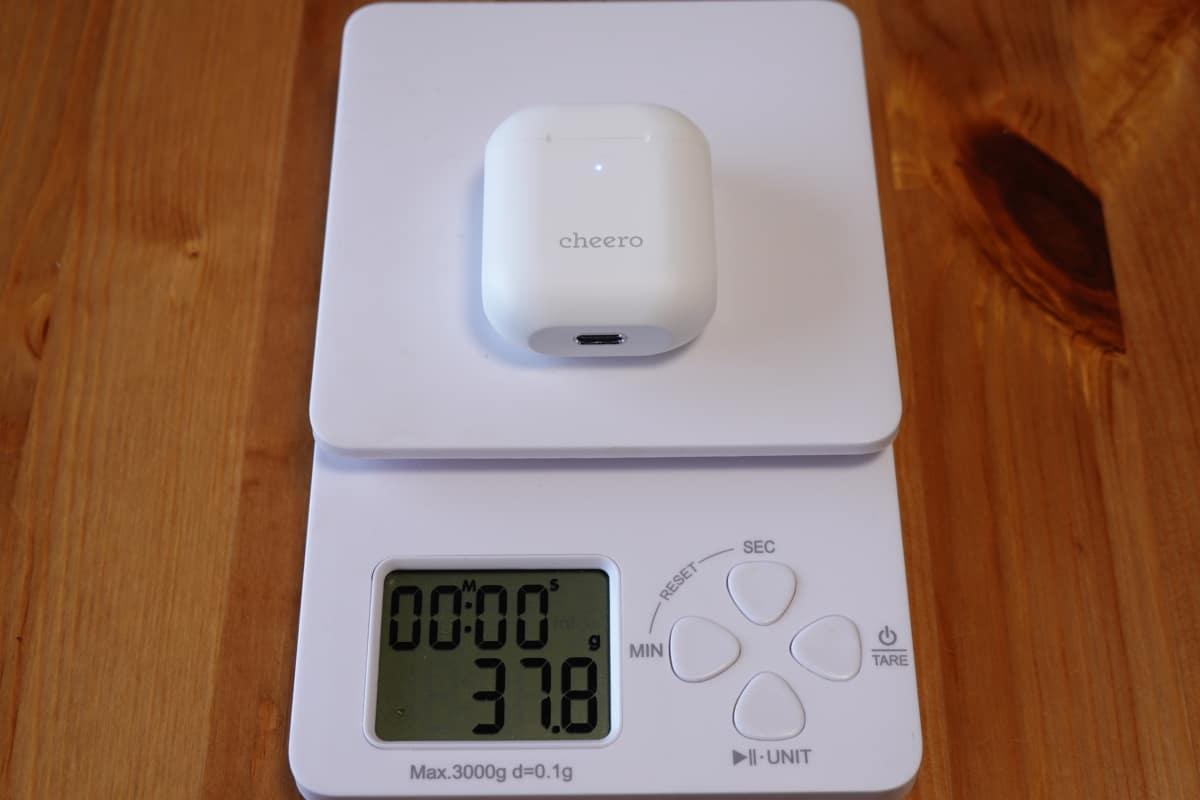 Wireless Earphones Light Style 2 (CHE-632)の総重量37.8g