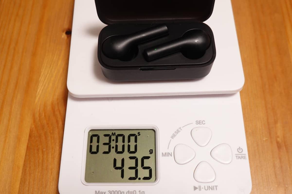 AUKEY EP-T21の総重量は43.5g。
