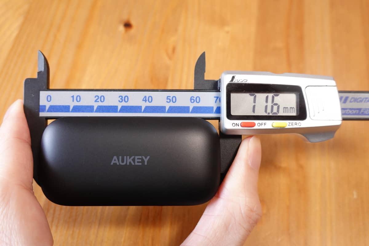 AUKEY EP-T21の横幅71.6mm