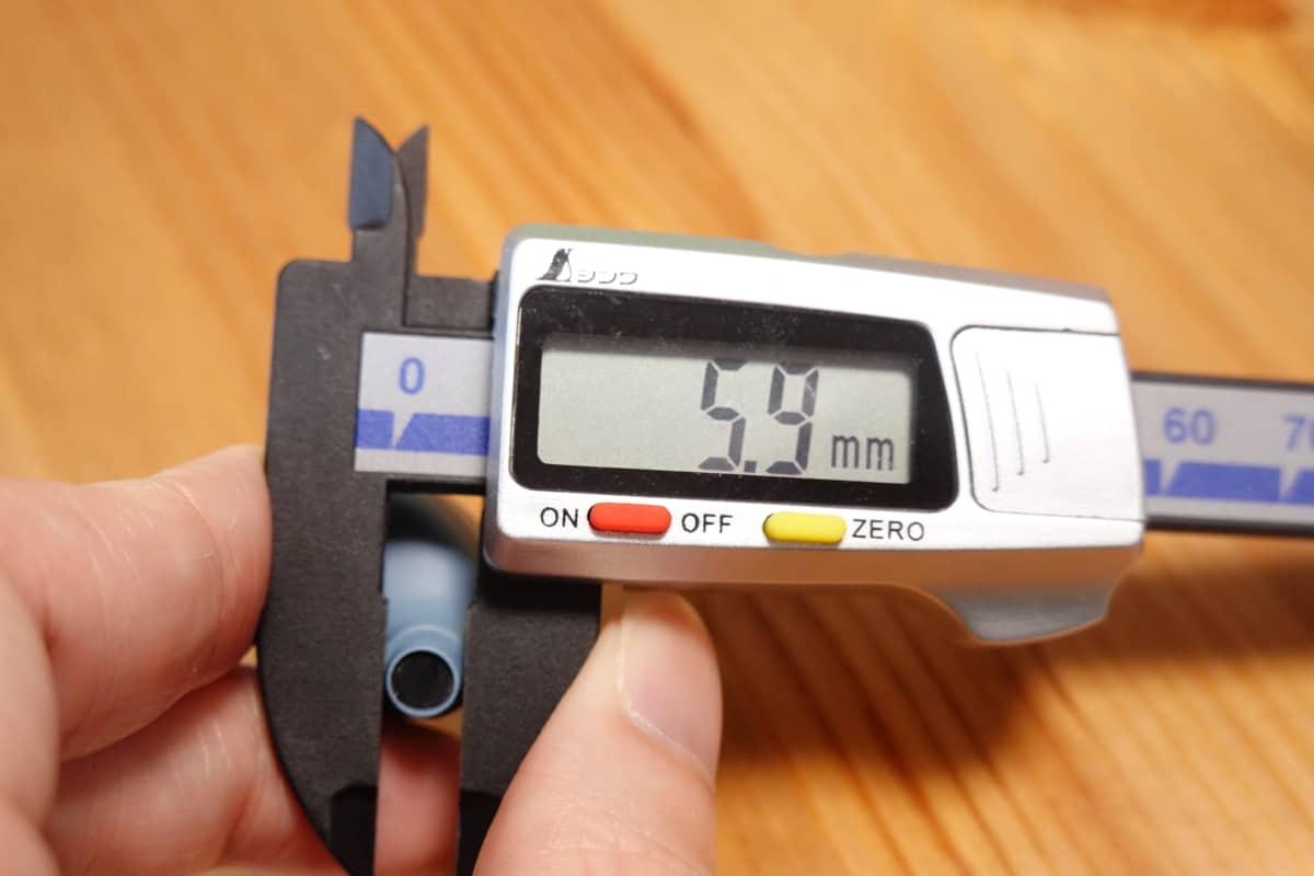 YAMAHA TW-E3Bのノズル部の寸法5.9mm