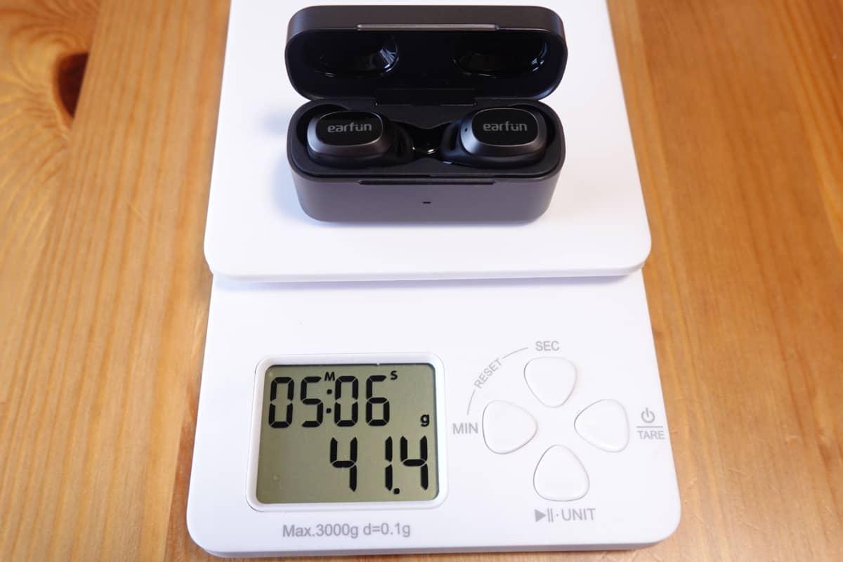 EarFun Free Proの総重量は41.4g