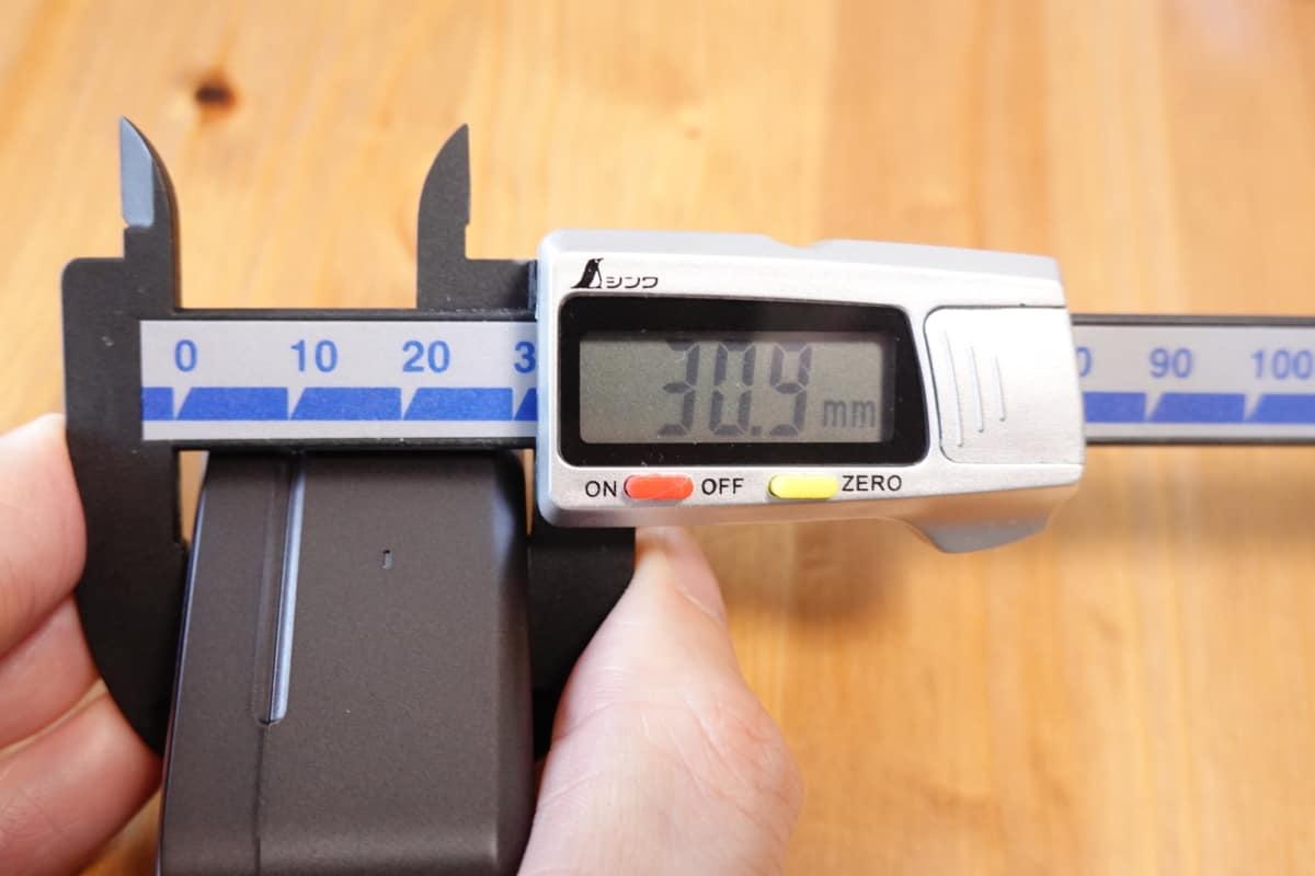 EarFun Free Proの高さは30.9mm