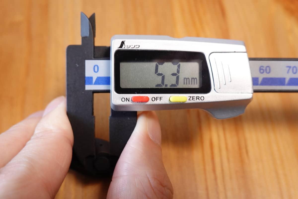 EarFun Free Proのノズルくびれ部は5.3mm