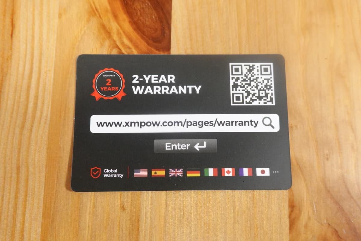 Mpow 059 Lite付属の保証カード